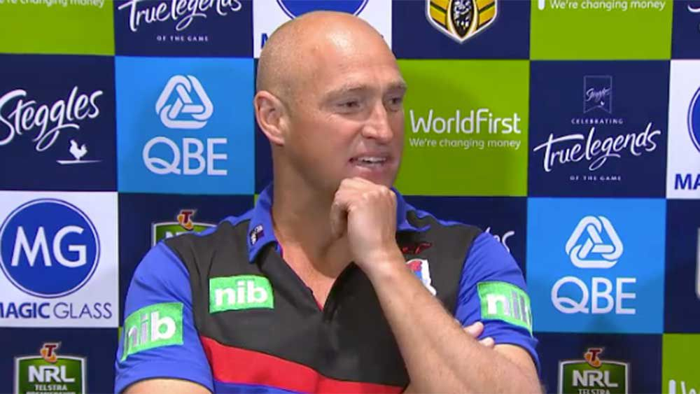NRL: Nathan Brown attacks reporter following loss to Roosters