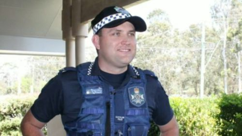 Constable Ben Condon has been identified as the police officer hurt in the incident this morning.