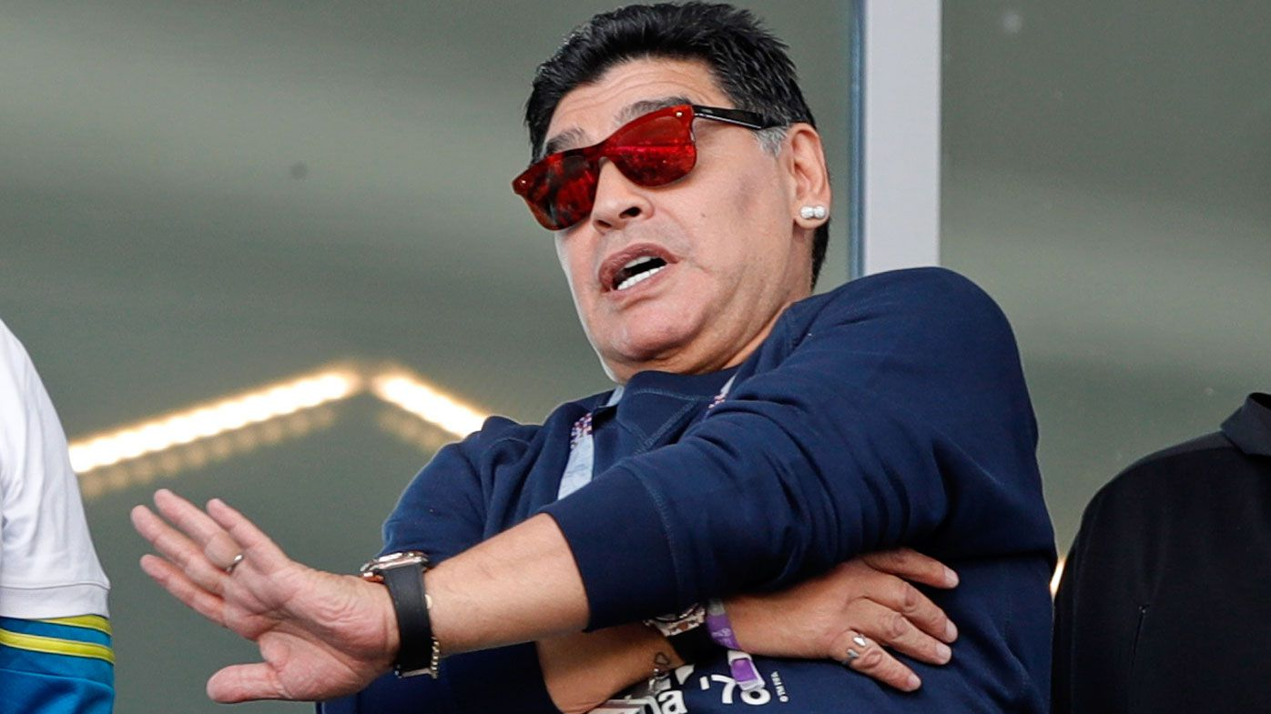 Diego Maradona denies making racist gesture during Argentina World Cup match