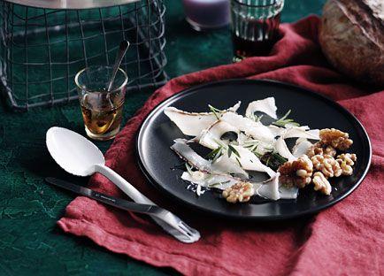 Lardo, truffle honey and walnuts