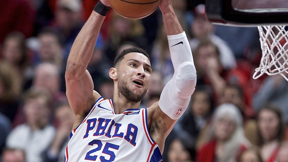 NBA: Ben Simmons stars for Philadelphia 76ers but blow big lead in Portland