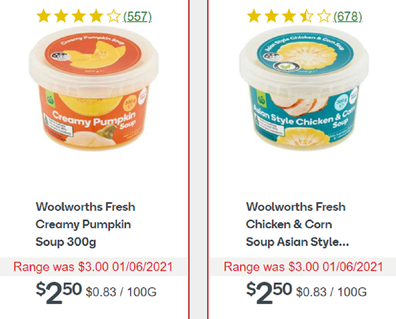 Woolies has an awesome range of soups just in time for winter.