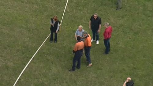 The pilot was assessed at the scene but did not require treatment. (9NEWS)