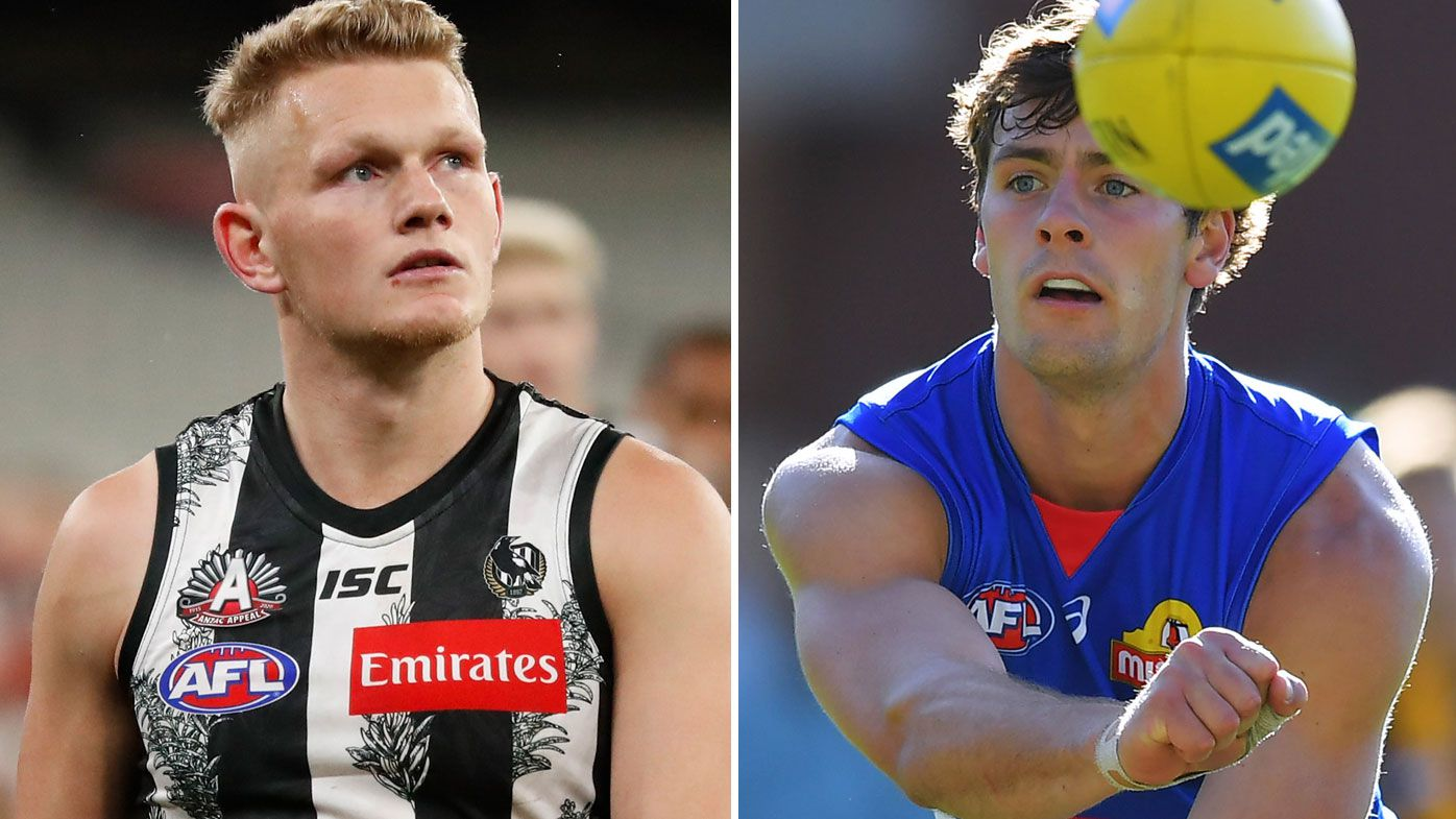 The Bulldogs landed Adam Treloar and retained Josh Dunkley in a frantic final trade frenzy. (Getty)