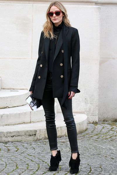 """Style queen <a href=""""https://www.instagram.com/oliviapalermo/"""" target=""""_blank"""">Olivia Palermo</a> looking sharp."""