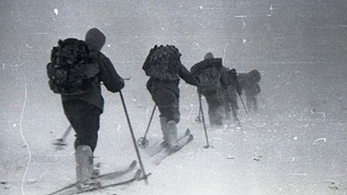 Some members of the Dyatlov group during the expedition in 1959.