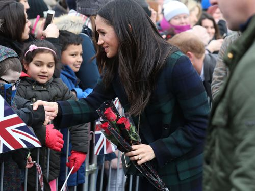 The royal-to-be appears to be a natural in front of the crowds. (AAP)