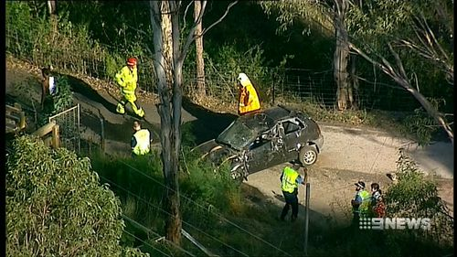 A 20-year-old man died in the crash. (9NEWS)