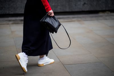 Maxi skirts are always awesome - add a sneaker though and you're even more impressive.