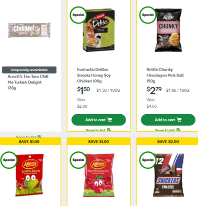 Woolies has some great comfort food on special for those who need comfort.