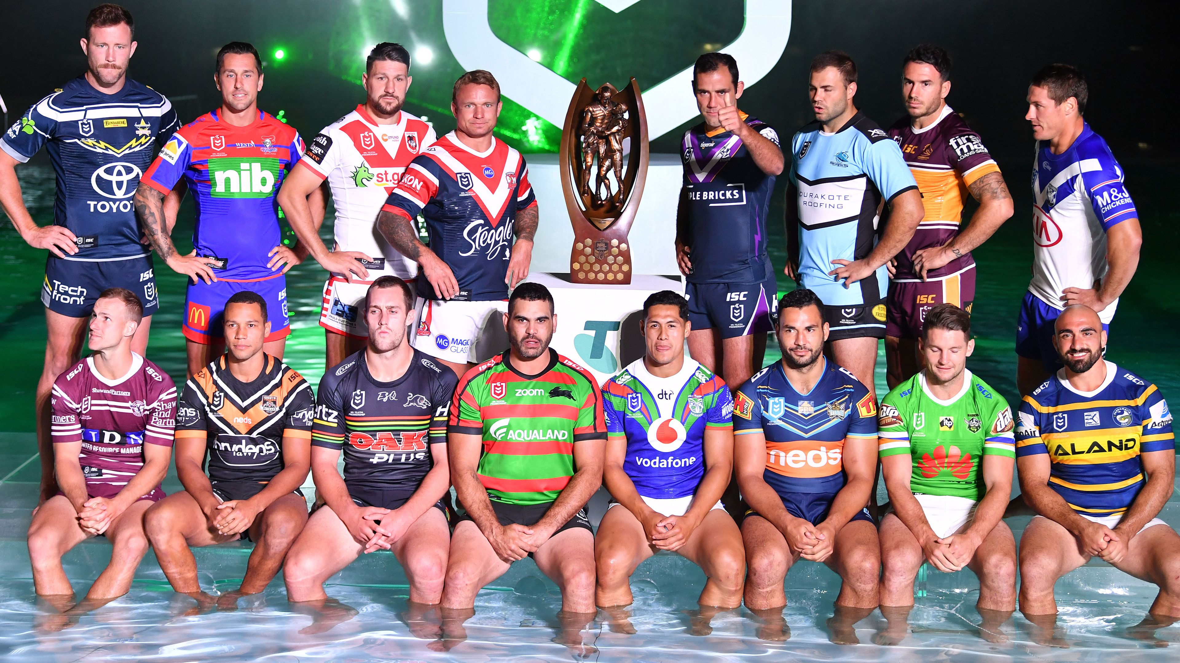 All 16 NRL club captains.