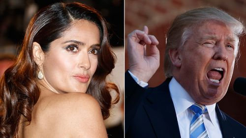Actress Salma Hayek claims Donald Trump harassed her when she wouldn't date him