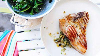 "Recipe:&nbsp;<a href=""http://kitchen.nine.com.au/2016/05/16/19/45/sicilian-pork-chops"" target=""_top"" draggable=""false"">Sicilian pork chops</a>"