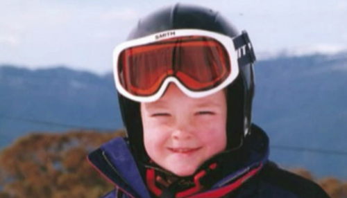 Scotty James before he was a snowboarding star. (9NEWS)