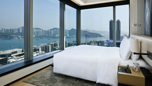 Guests are treated to a spectacular view of Victoria Harbour.