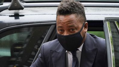 Cuba Gooding Jr. arrives to court for a hearing in his sexual misconduct case, Thursday, Aug. 13, 2020, in New York.