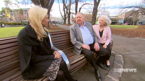 9NEWS' Jo Hall met with Judy Mather and Barry Freeman. Picture: 9NEWS
