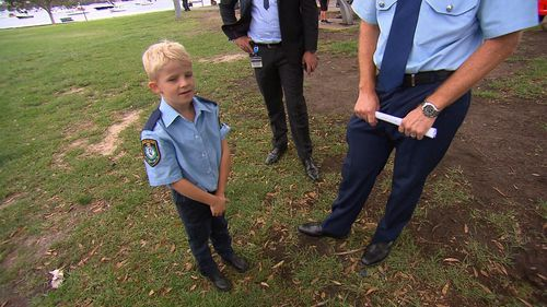 Officer Finn completed his duty with excellence. (9NEWS)