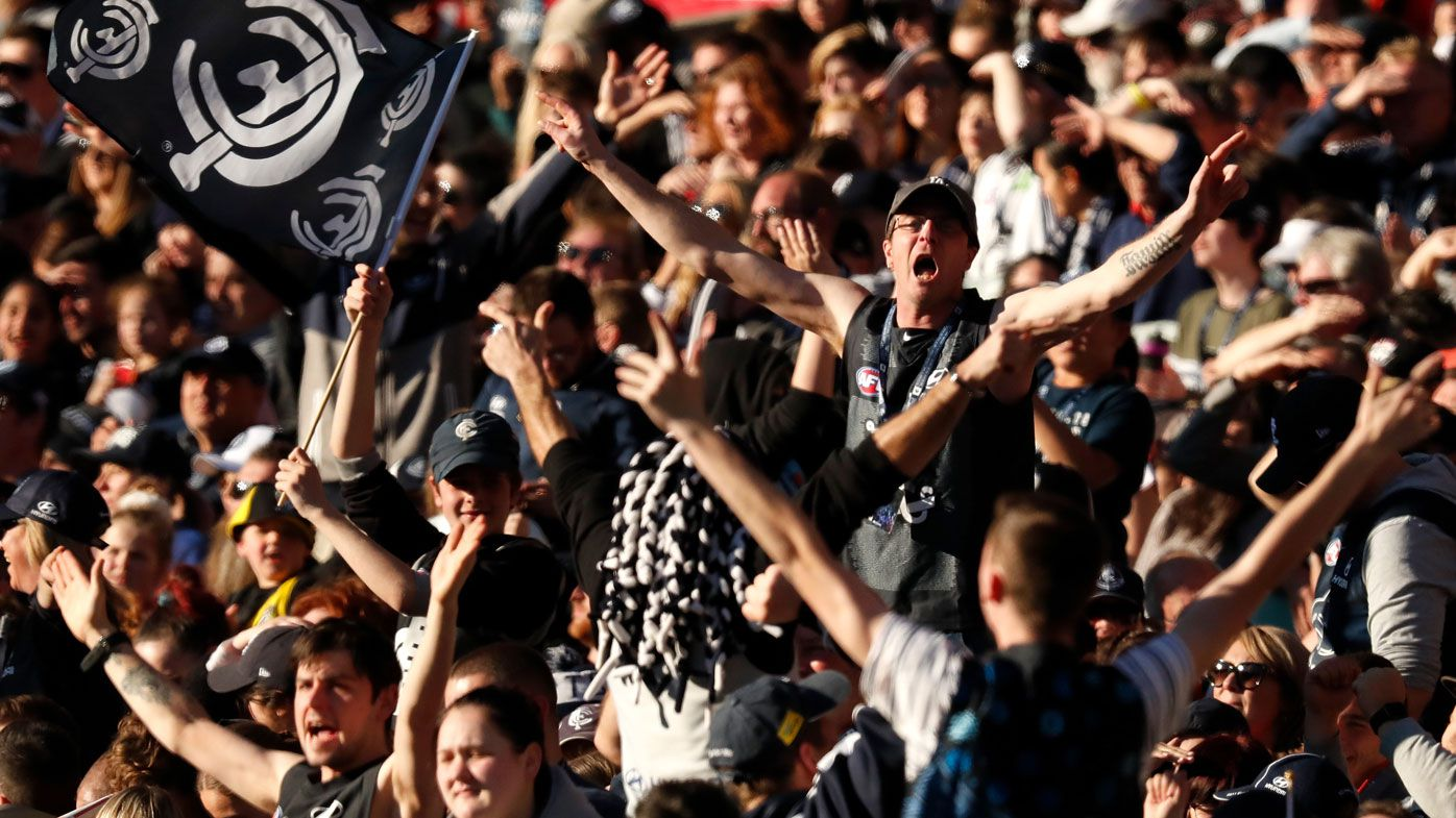 Carlton fans. (Getty)