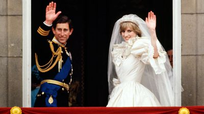 Lady Diana Spencer weds Prince Charles, 1981