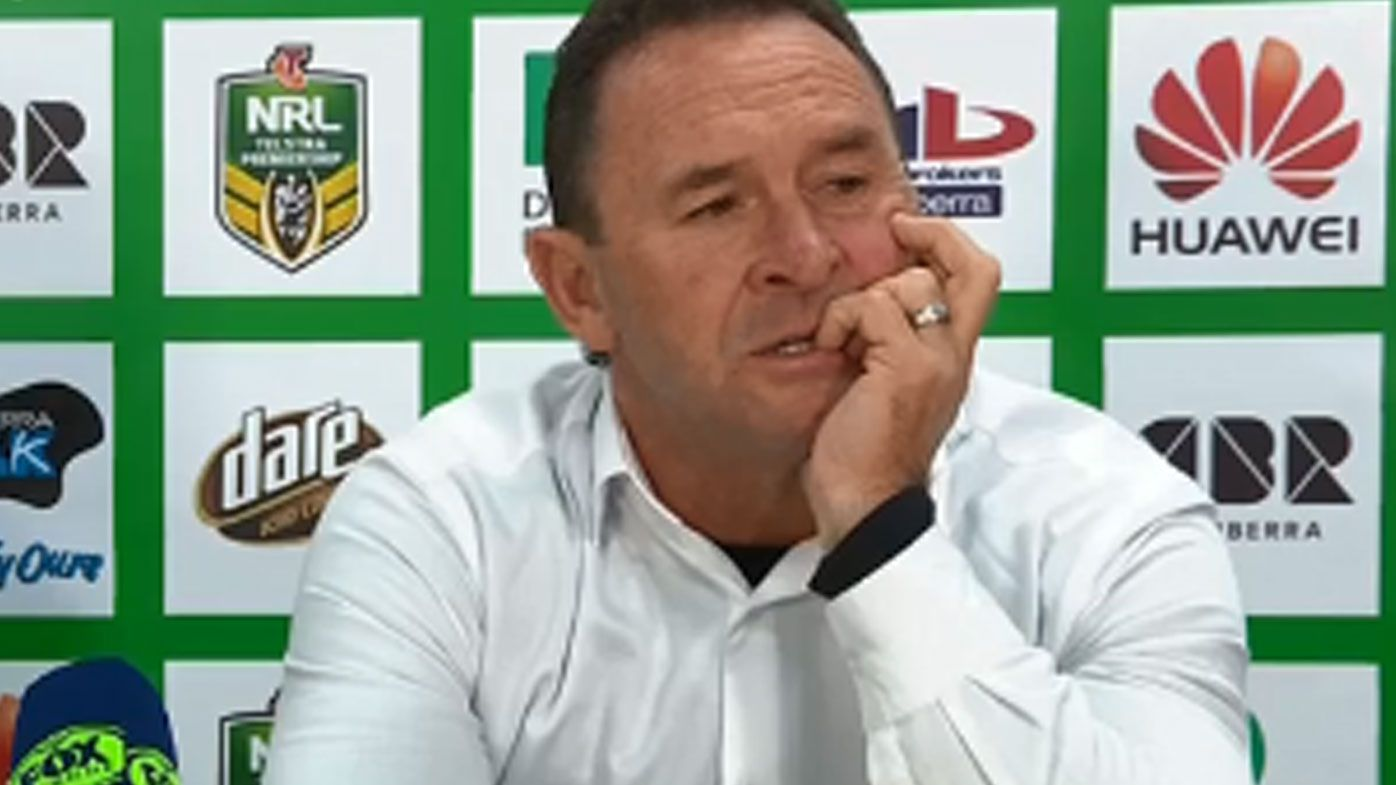 Canberra Raiders coach Ricky Stuart defends team after loss to Penrith Panthers