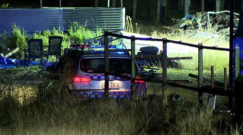 Queensland Police have declared a crime scene at a regional property north of Ipswich this evening.