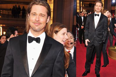 Yes, it's Brad Pitt, yes, he's hot, but to be honest we're over the straggly long hair (bring back the short '90s do!) and there's really nothing special about his suit.
