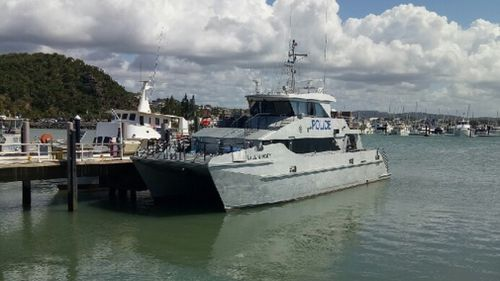 Water police and two aircrafts spent the afternoon scouring the area for the missing man. (9NEWS/ Alexandra Cullen)