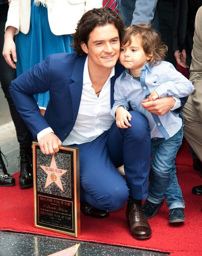 Orlando Bloom, son Flynn, Hollywood Walk Of Fame