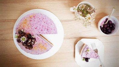 This is the vegan answer to cheesecake, and it's so very pretty