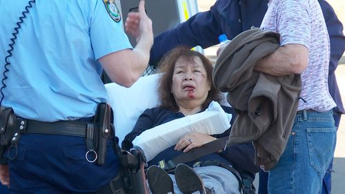 The 69-year-old was attacked from behind while on Kiera Street yesterday afternoon. Picture: 9NEWS