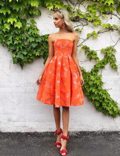 Model Sarah Czarnuch in Kookai dress