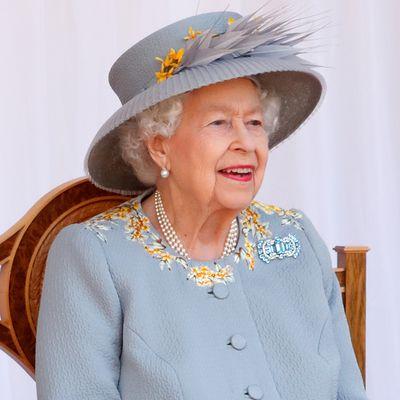 The Queen Mother's aquamarine brooch