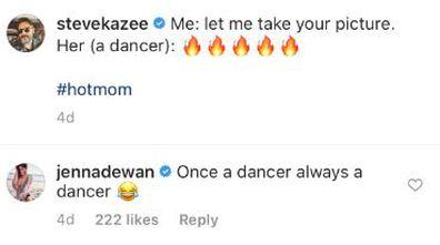 Jenna Dewan, Steve Kazee, bedroom photo shoot, Instagram