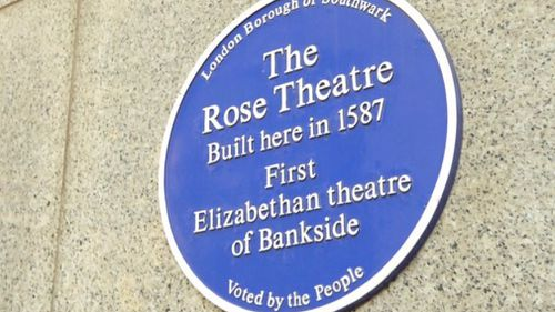 The Rose Theatre first opened in 1587.