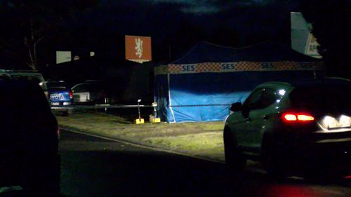 Emergency crews found a body in the burnt out tent in Geelong earlier this week.