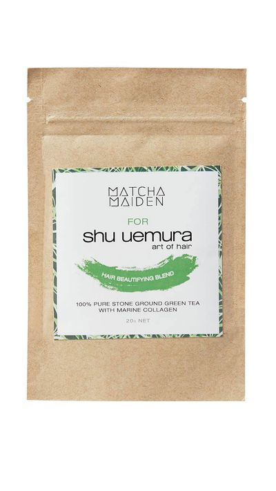 To strengthen hair try: the Limited Edition Hair Beautifying Blend by Matcha Maiden for Shu Uemura Art Of Hair