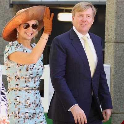 King Willem-Alexander and Queen Maxima of the Netherlands in Perth on Melbourne Cup day 2016.
