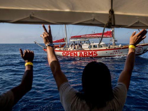 The Spanish vessel Proactiva Open Arms has been rescuing migrants. Photo: AP