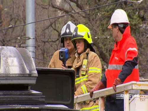 Emergency Services were on scene to extinguish the fire. Image: 9News