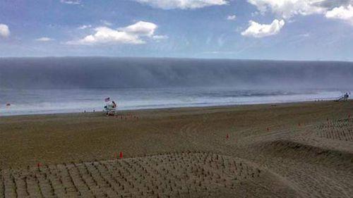 Fog 'tsunami' forms off US east coast