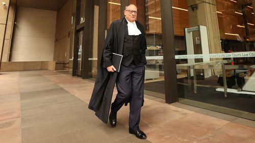 Ben Roberts-Smith's barrister, Bruce McClintock, SC.