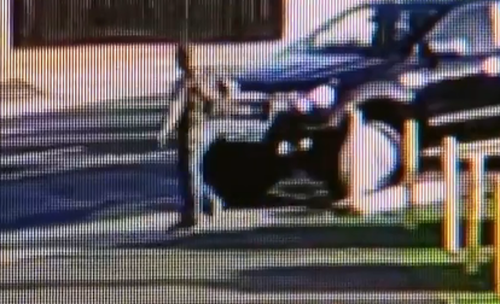 As Aaron helped the boy, a man approached his black ute before it disappeared. (Supplied)