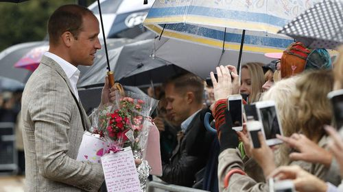 The Duke of Cambridge meets members of the public. (AFP)