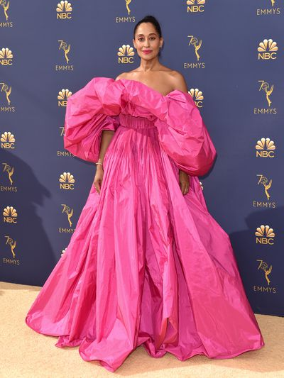 Actress Tracee Ellis Ross at the 70th Emmy Awards in Los Angeles, September, 2018