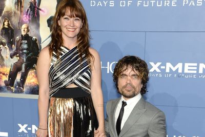 <i>X-Men: Days of Future Past</i> and <i>Game of Thrones</i> star Peter Dinklage with his wife Erica Schmidt.