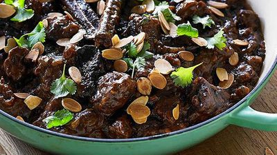 Hayden Quinn's beef casserole with dried plums