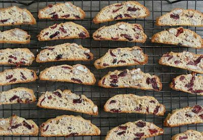 Cranberry and pecan biscotti