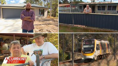 Queensland homes face being bulldozed for new train line.