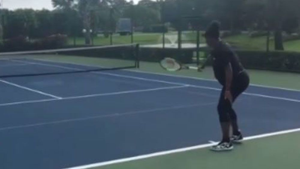 Tennis ace Serena Williams still on court in third trimester of pregnancy